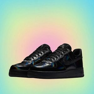 BLACK HOLOGRAPHIC NIKE AIR FORCE 1